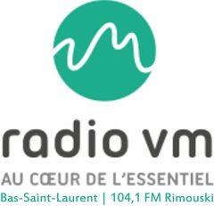 RADIO VM BAS-SAINT-LAURENT - 104,1 RIMOUSKI - Logo